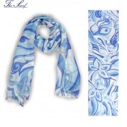 SCIARPA AMALFI light blue