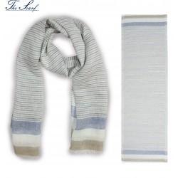 SCIARPA ISCHIA jeans/sabbia